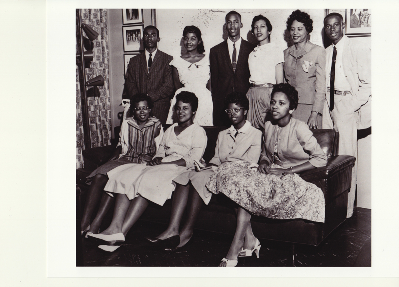 Daisy Bates Posed with the Little Rock Nine